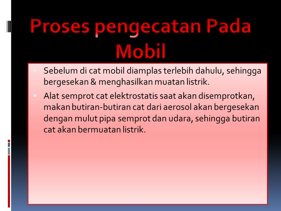 Proses pengecatan Pada Mobil