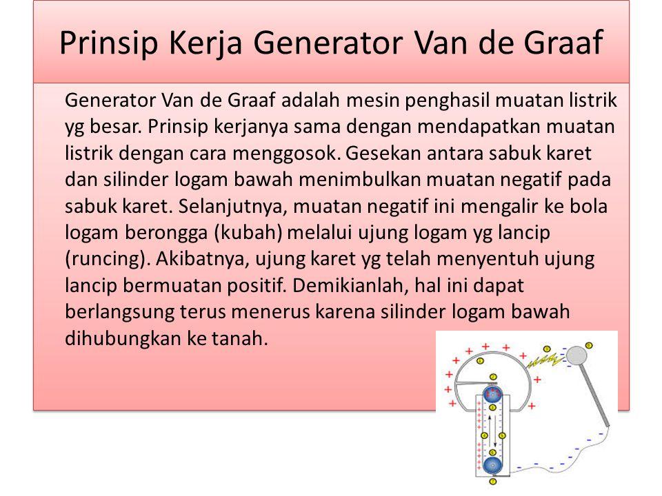 Prinsip Kerja Generator Van de Graaf