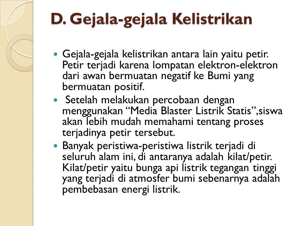 D. Gejala-gejala Kelistrikan