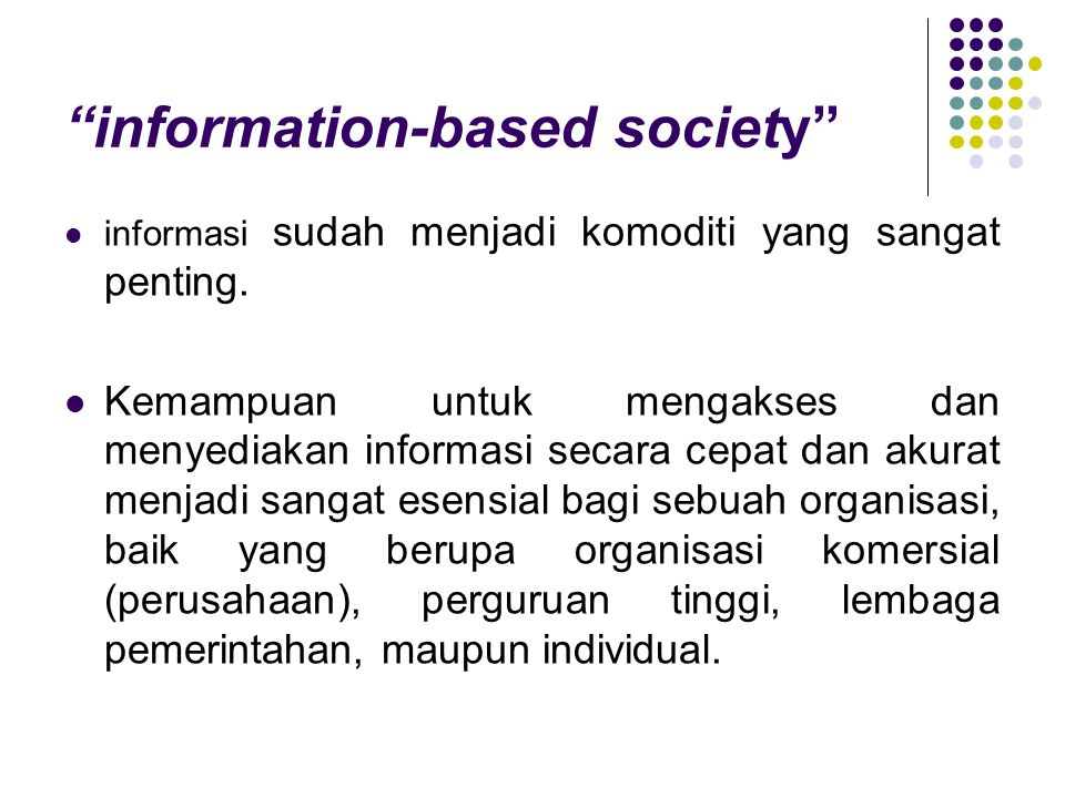 information-based society