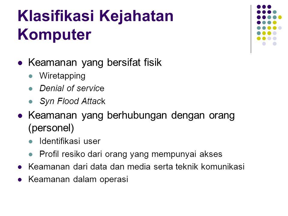 Klasifikasi Kejahatan Komputer