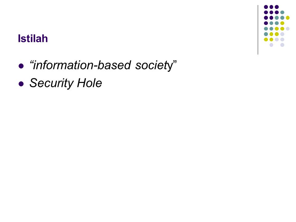 information-based society Security Hole