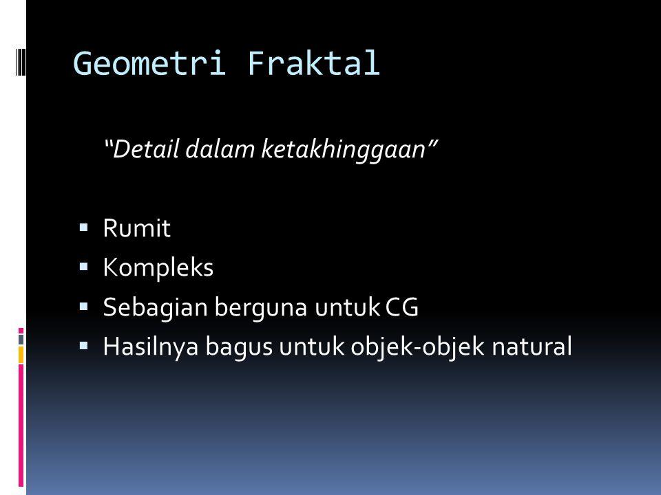 Geometri Fraktal Detail dalam ketakhinggaan Rumit Kompleks