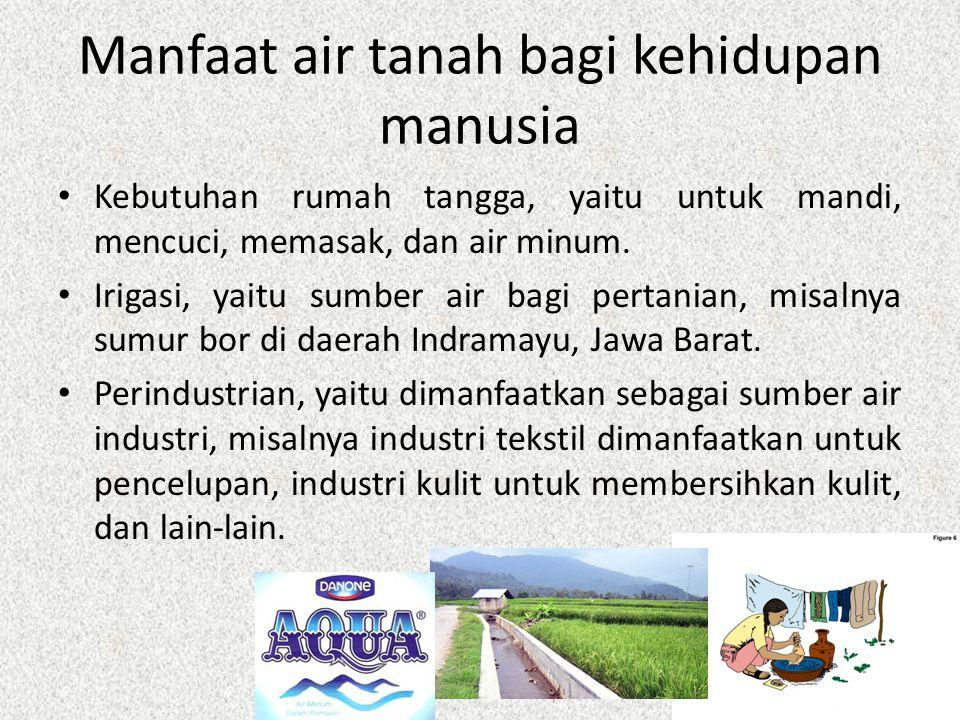 Manfaat air tanah bagi kehidupan manusia