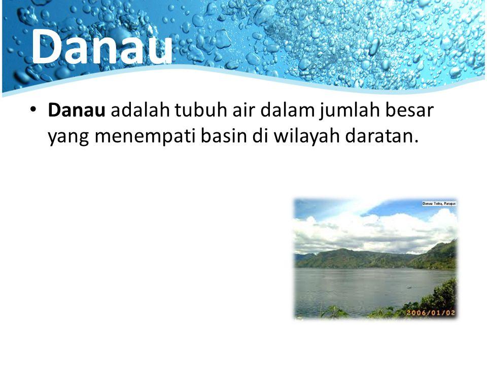 Danau Danau adalah tubuh air dalam jumlah besar yang menempati basin di wilayah daratan.