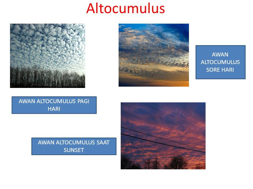 Altocumulus AWAN ALTOCUMULUS SORE HARI AWAN ALTOCUMULUS PAGI HARI