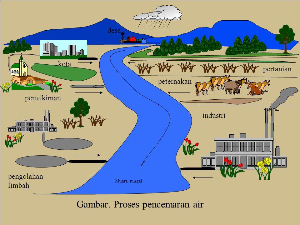 Gambar. Proses pencemaran air