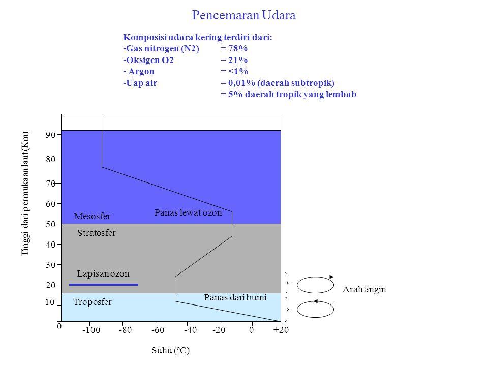 Pencemaran Udara Komposisi udara kering terdiri dari: