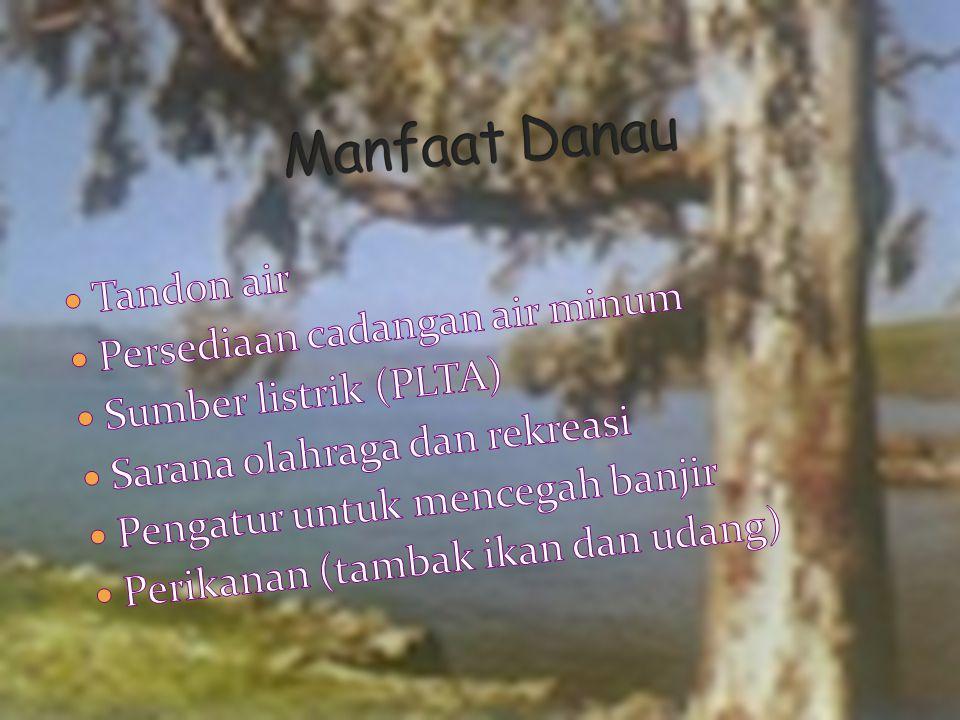 Manfaat Danau Tandon air Persediaan cadangan air minum