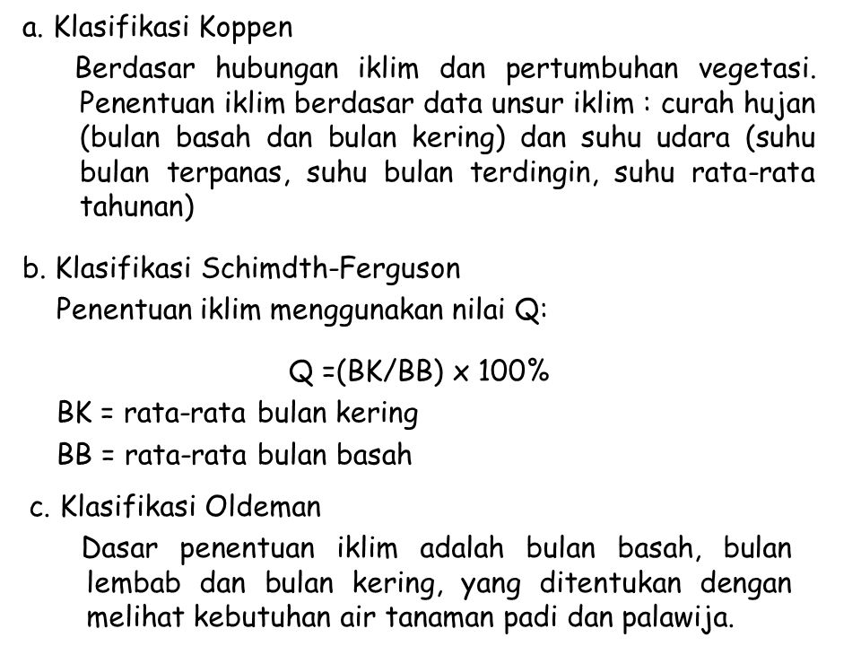 a. Klasifikasi Koppen