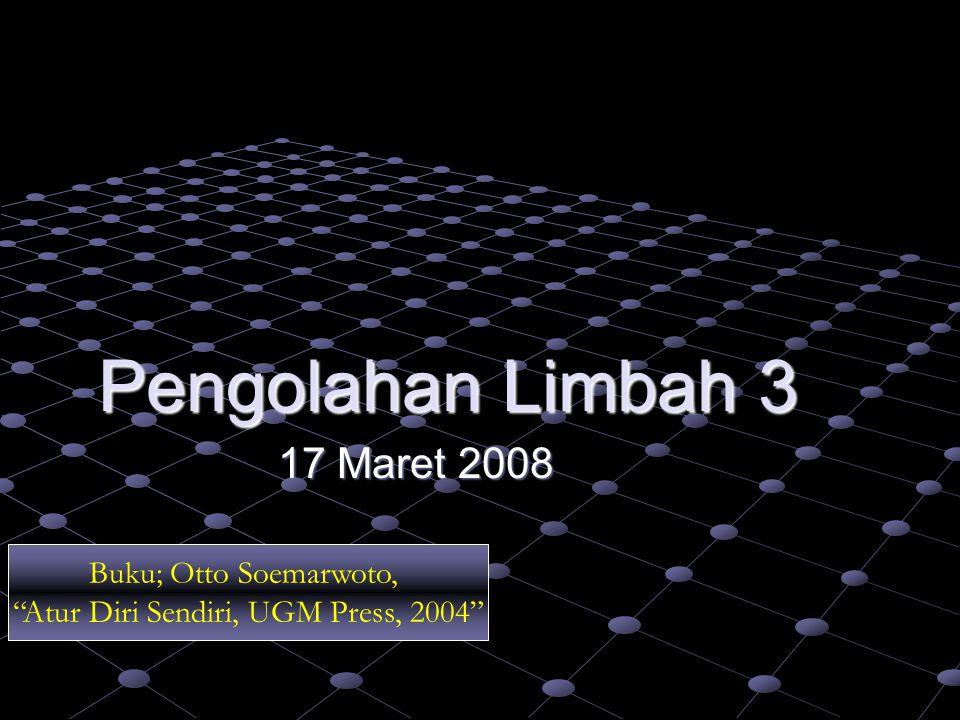 Atur Diri Sendiri, UGM Press, 2004