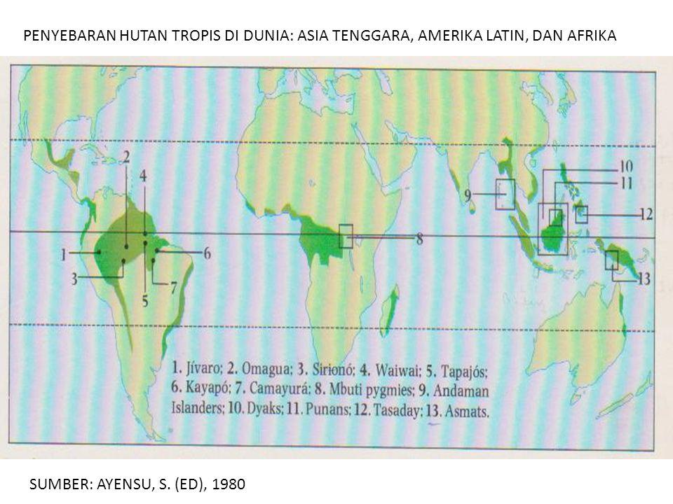 PENYEBARAN HUTAN TROPIS DI DUNIA: ASIA TENGGARA, AMERIKA LATIN, DAN AFRIKA