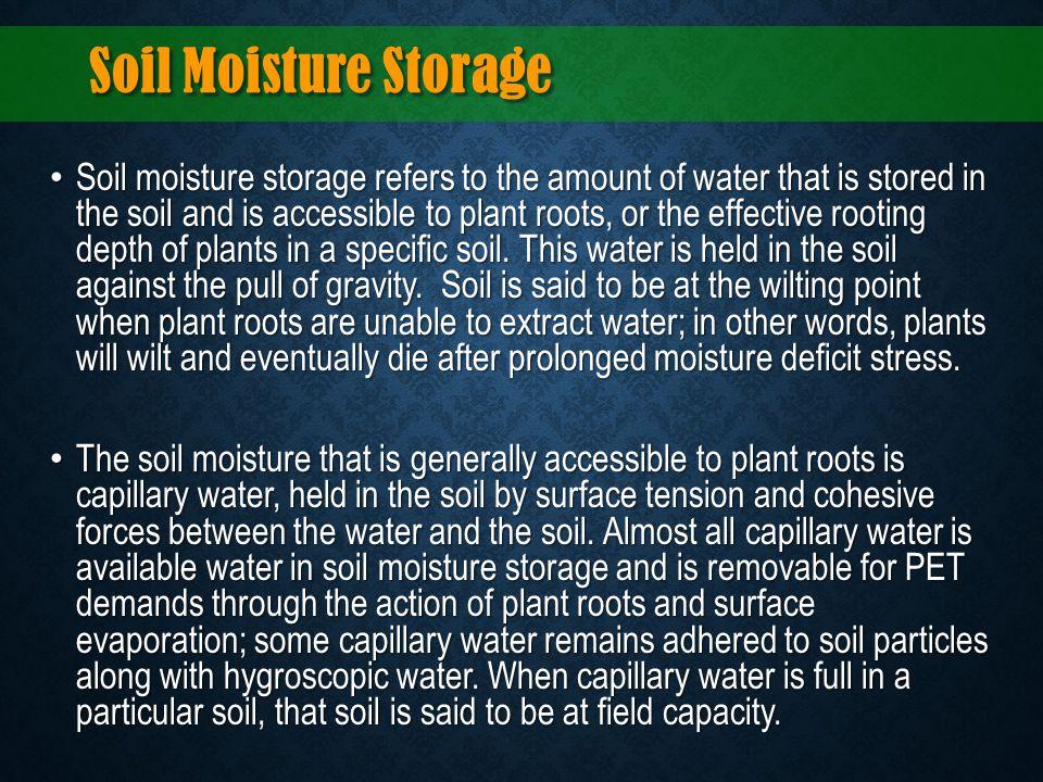 Soil Moisture Storage