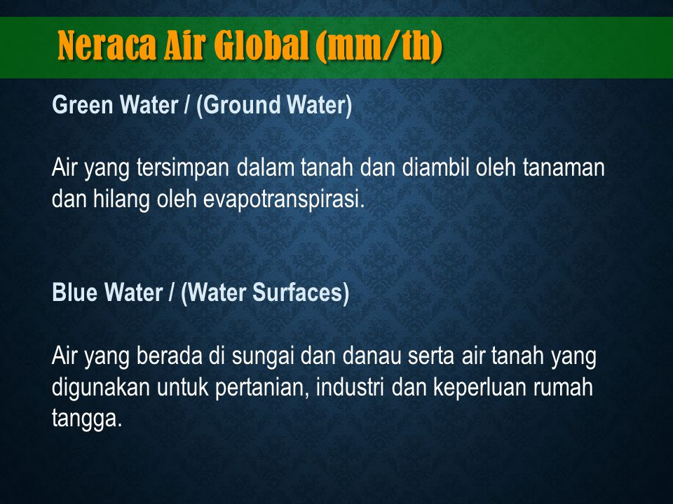 Neraca Air Global (mm/th)