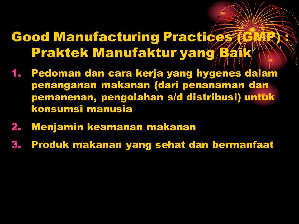 Good Manufacturing Practices (GMP) : Praktek Manufaktur yang Baik