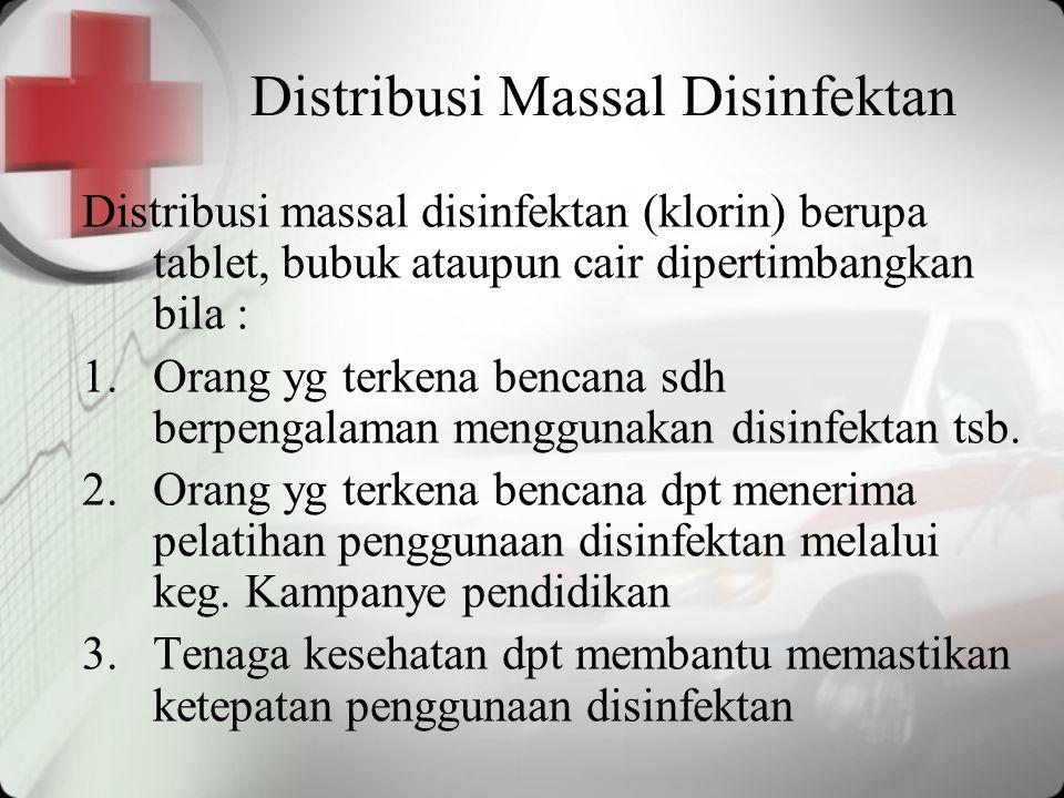 Distribusi Massal Disinfektan
