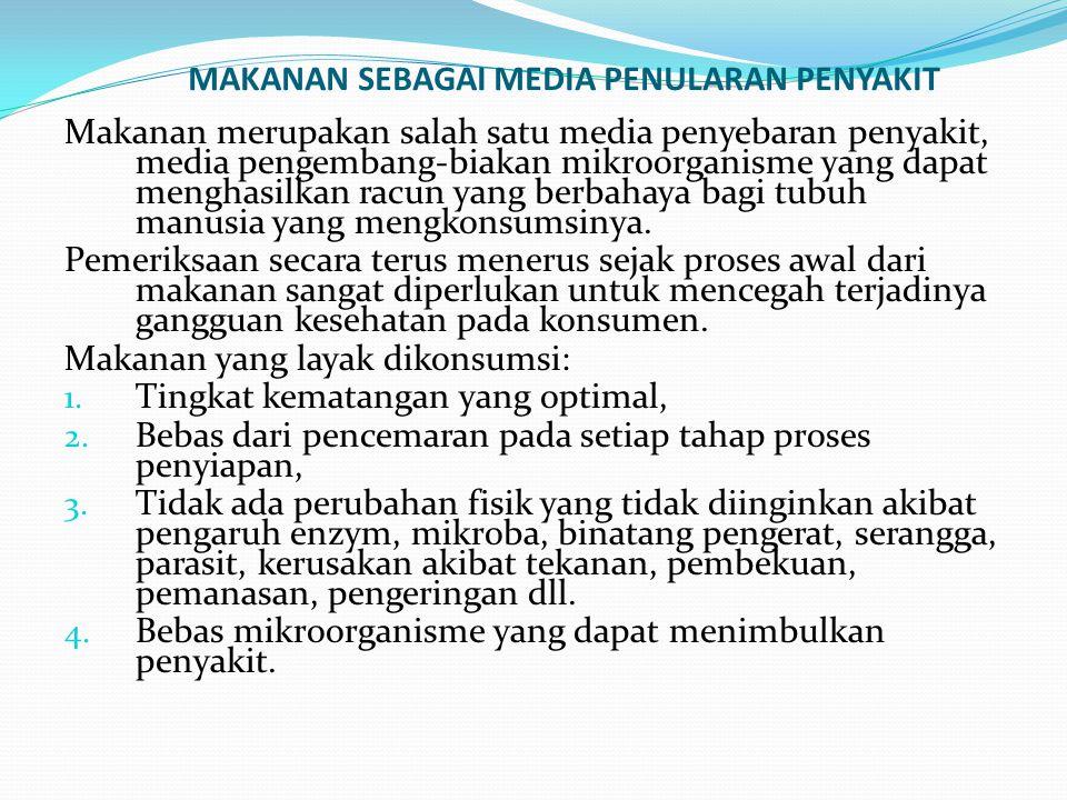 MAKANAN SEBAGAI MEDIA PENULARAN PENYAKIT