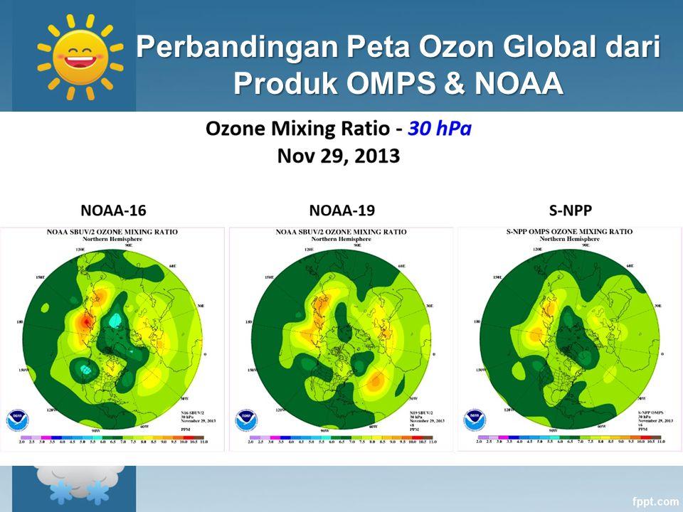 Perbandingan Peta Ozon Global dari Produk OMPS & NOAA
