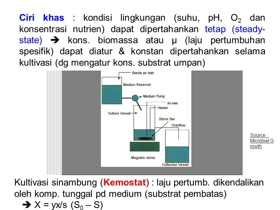 Kultivasi sinambung (Kemostat) : laju pertumb. dikendalikan