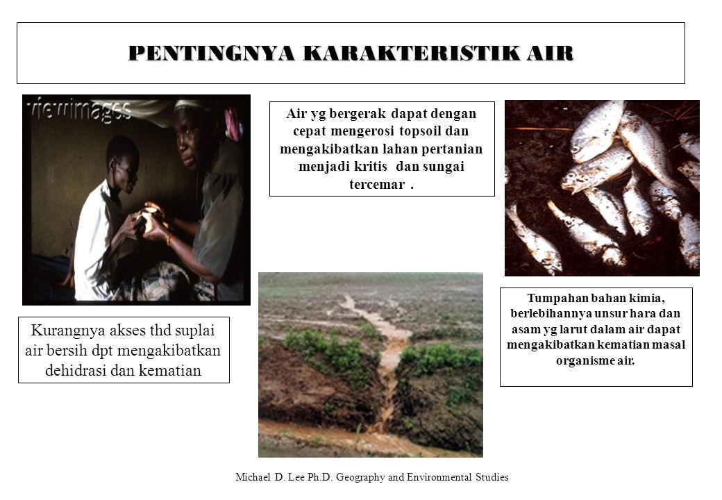 PENTINGNYA KARAKTERISTIK AIR