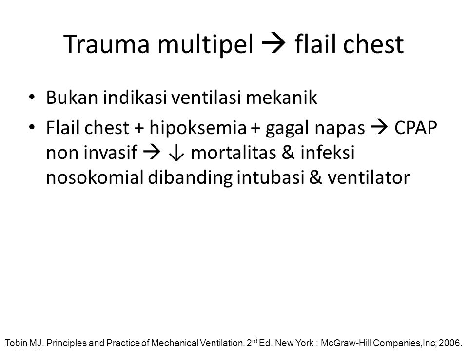 Trauma multipel  flail chest