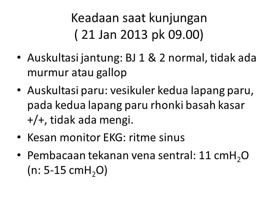 Keadaan saat kunjungan ( 21 Jan 2013 pk 09.00)