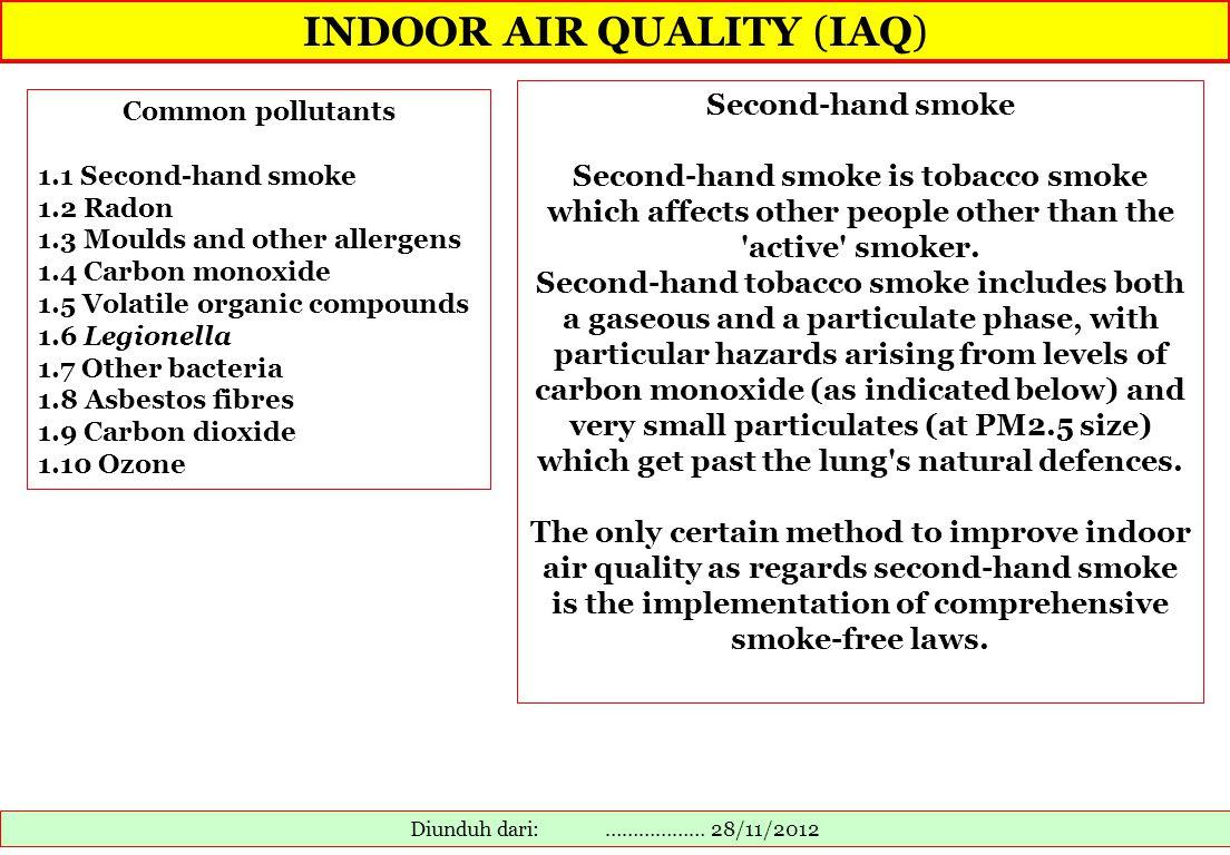 INDOOR AIR QUALITY (IAQ)