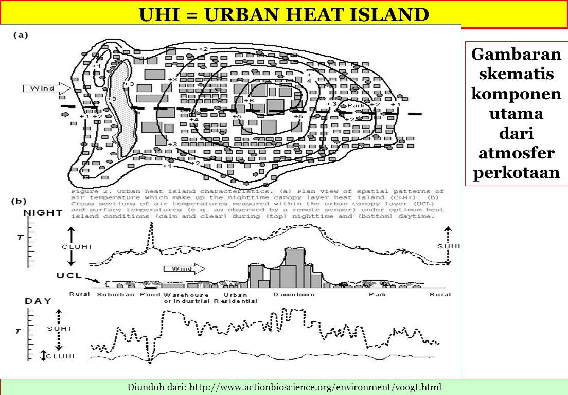Gambaran skematis komponen utama dari atmosfer perkotaan