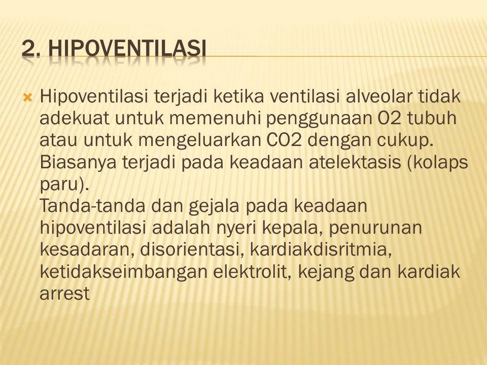2. Hipoventilasi