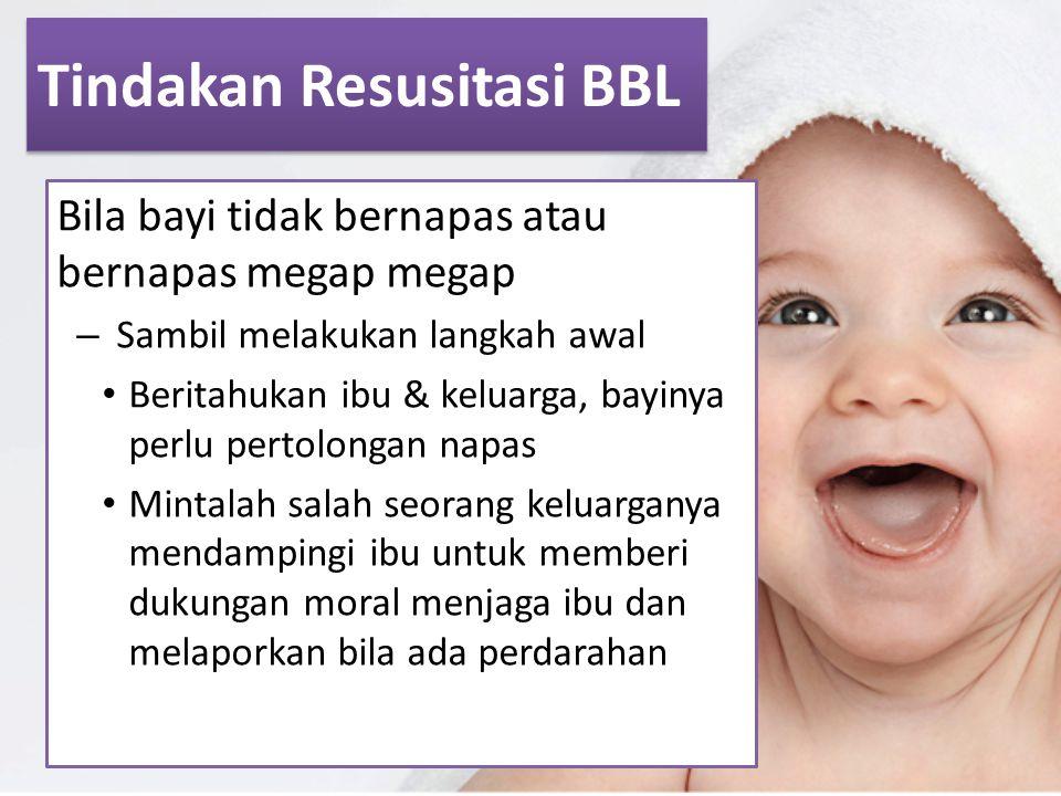 Tindakan Resusitasi BBL