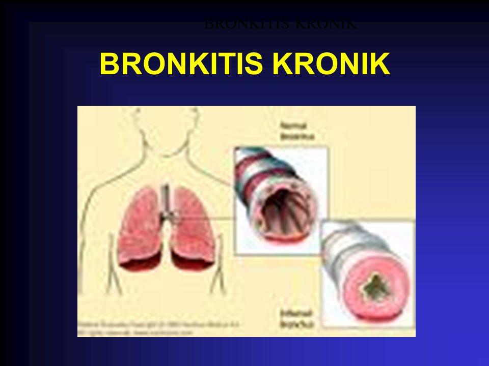 BRONKITIS KRONIK BRONKITIS KRONIK