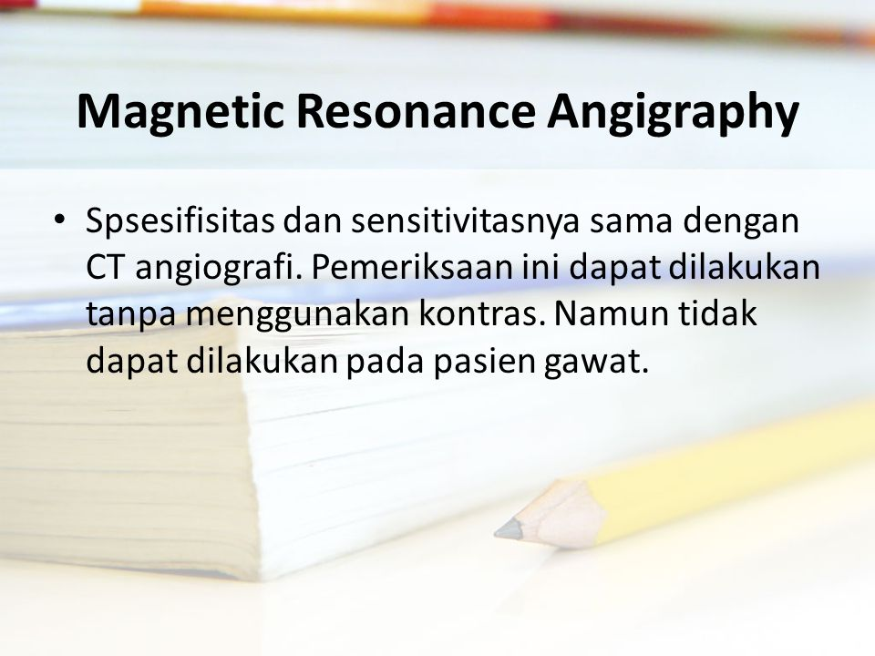 Magnetic Resonance Angigraphy
