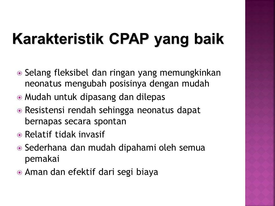 Karakteristik CPAP yang baik
