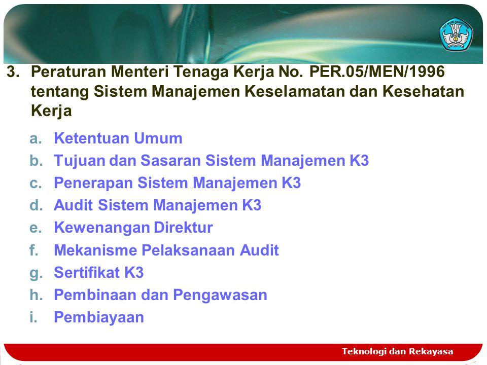 Peraturan Menteri Tenaga Kerja No. PER