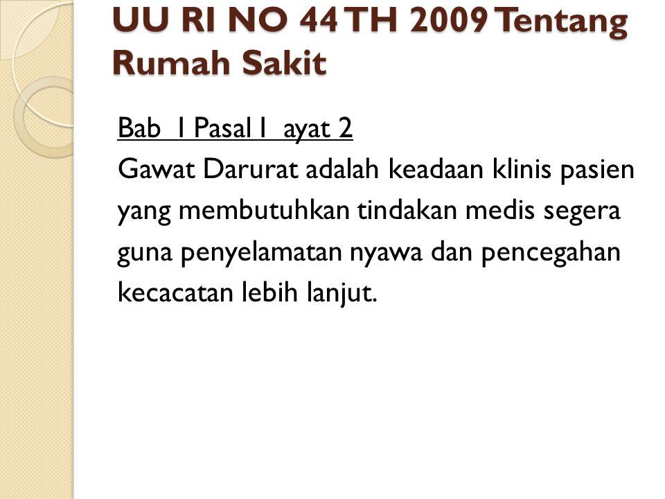 UU RI NO 44 TH 2009 Tentang Rumah Sakit