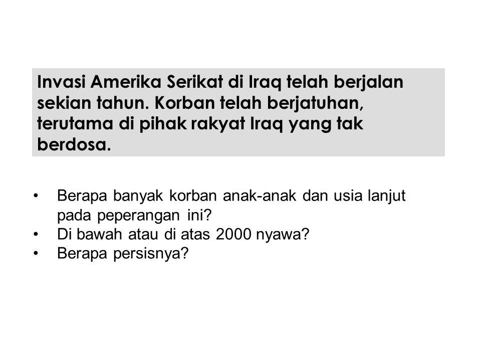 Invasi Amerika Serikat di Iraq telah berjalan sekian tahun