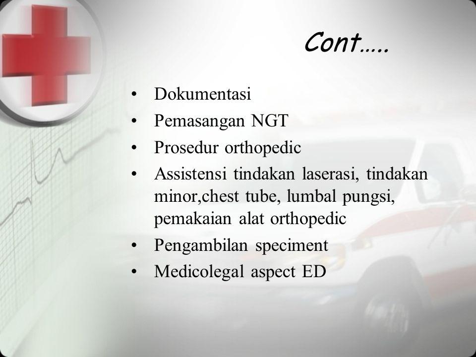 Cont….. Dokumentasi Pemasangan NGT Prosedur orthopedic