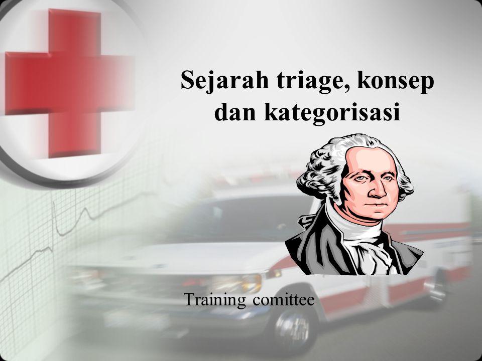 Sejarah triage, konsep dan kategorisasi