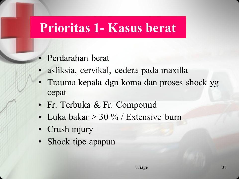 Prioritas 1- Kasus berat