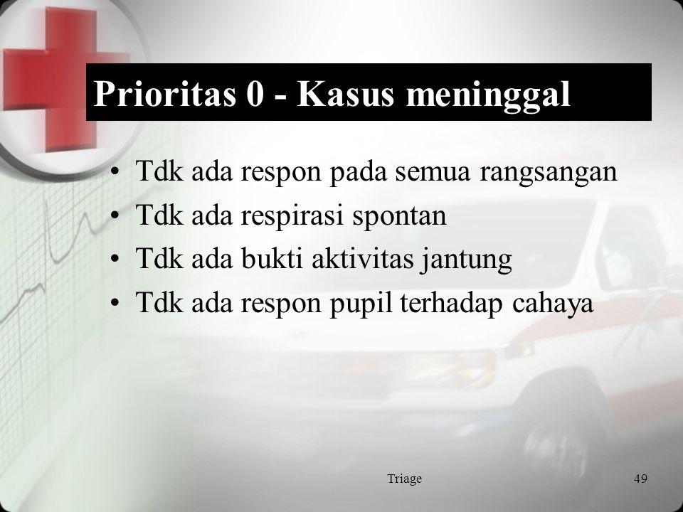 Prioritas 0 - Kasus meninggal