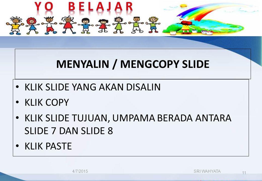 MENYALIN / MENGCOPY SLIDE