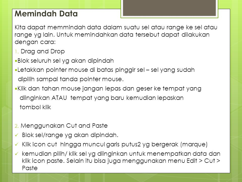 Memindah Data