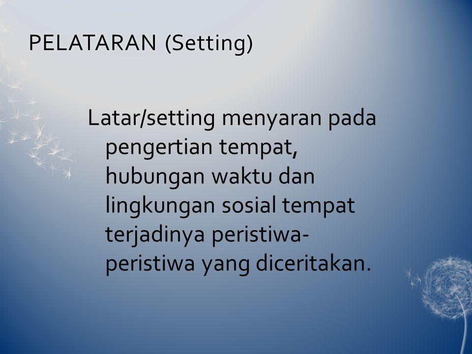 PELATARAN (Setting)