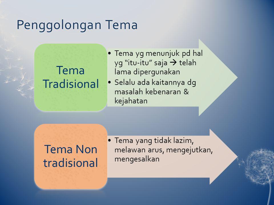 Penggolongan Tema Tema Tradisional