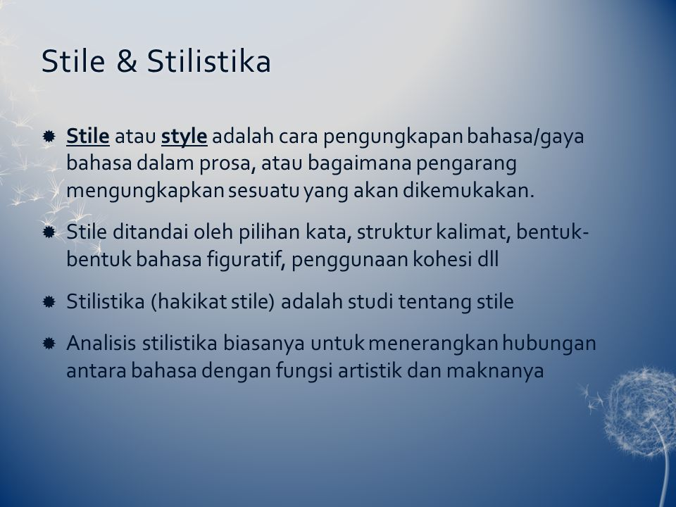 Stile & Stilistika
