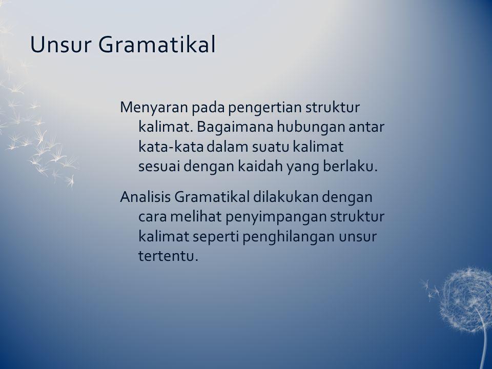 Unsur Gramatikal