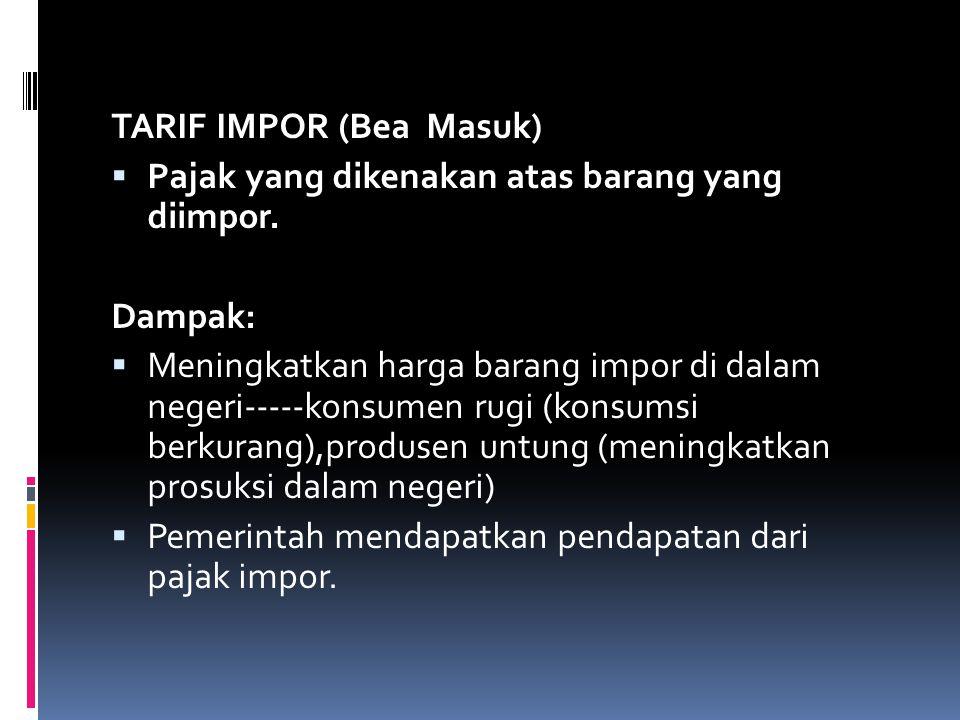 TARIF IMPOR (Bea Masuk)