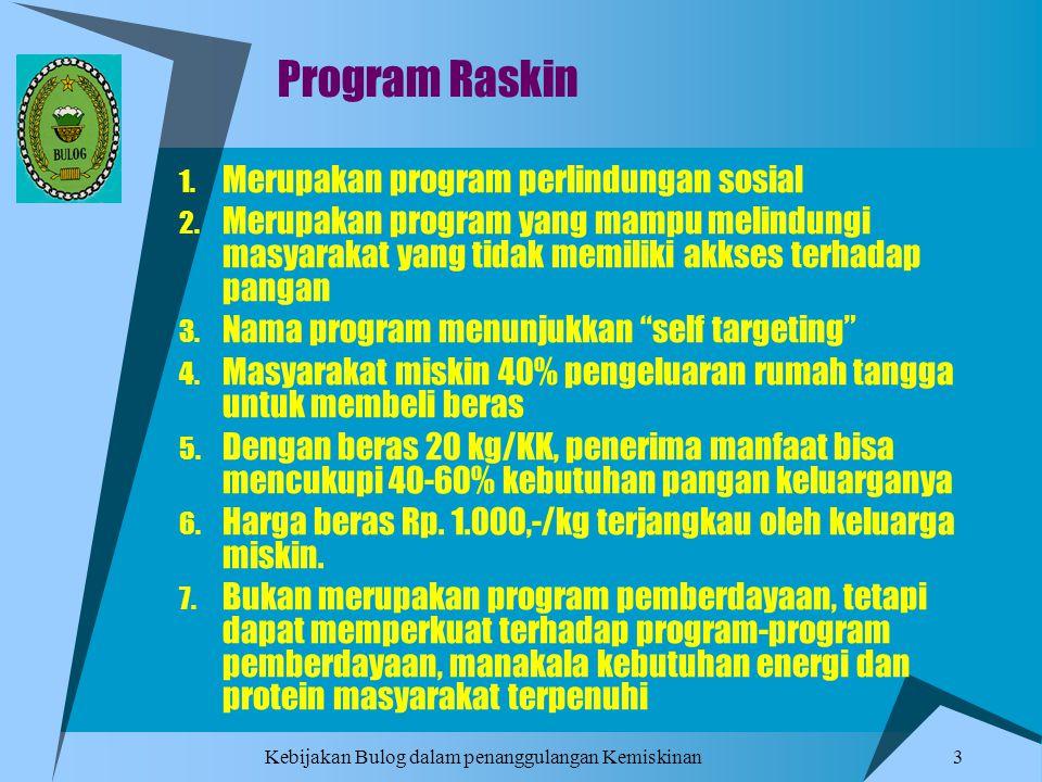 Program Raskin Merupakan program perlindungan sosial