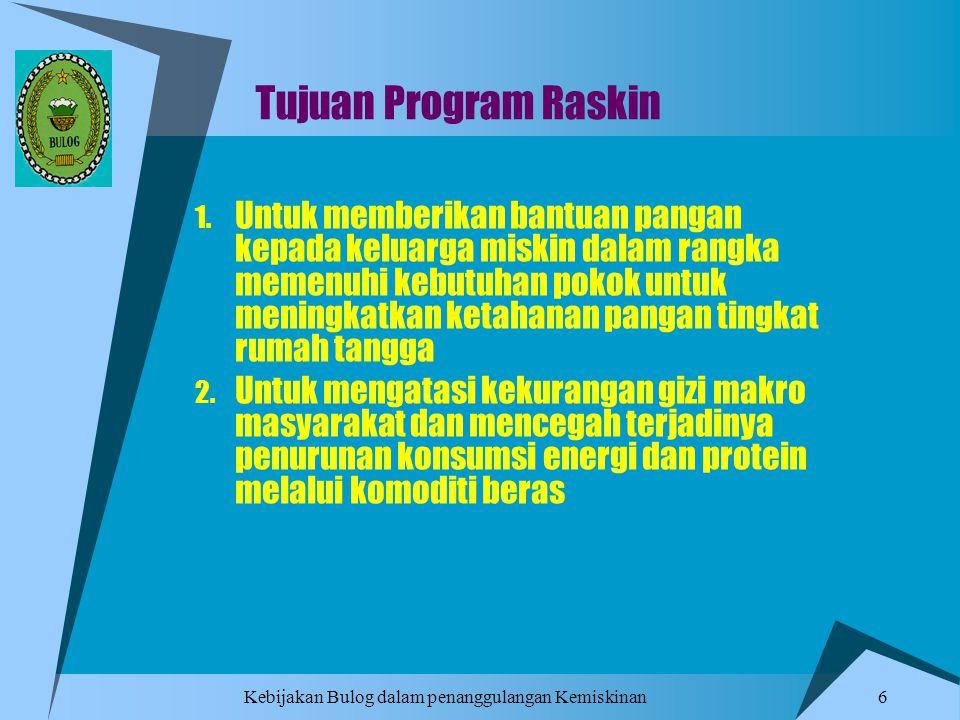 Tujuan Program Raskin