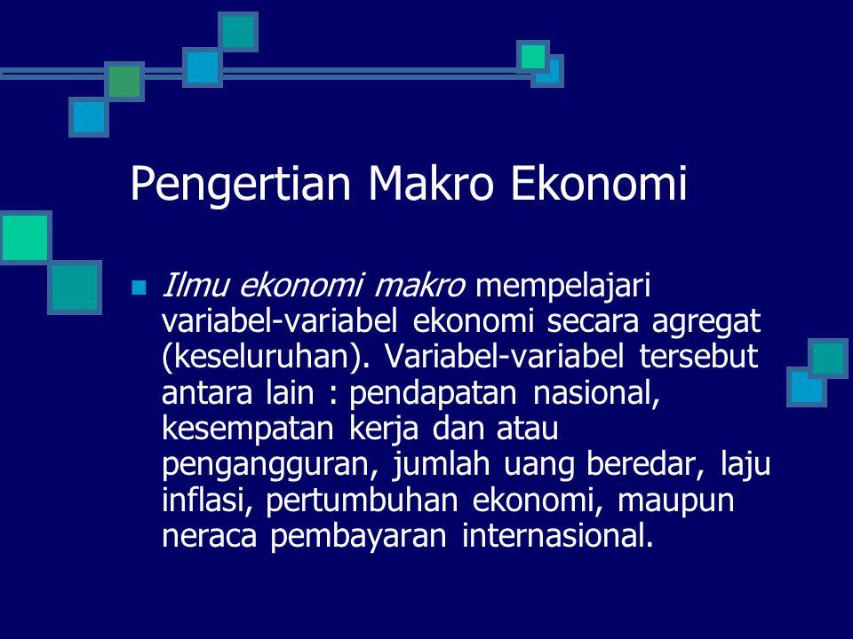 Pengertian Makro Ekonomi